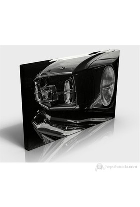 Mustang In Grey Kanvas Tablo
