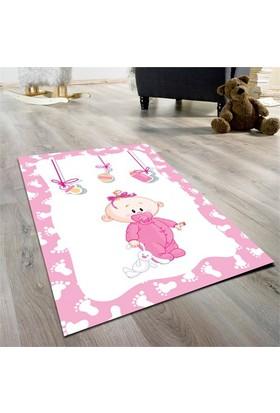 Cici Halı Emzikli Bebek Çocuk Halısı-Pembe 90X140 Cm