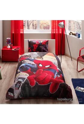 Taç Spiderman İn City Tek Kişilik Nevresim Takımı