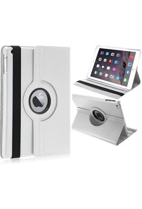 Mobile World iPad Air 2 360 Derece Dönebilen Beyaz Tablet Kılıfı