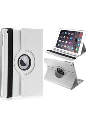 Mobile World iPad Air 360 Derece Dönebilen Beyaz Tablet Kılıfı