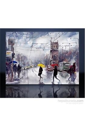 Renkli Şemsiyeler Kanvas Tablo
