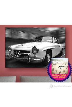 Vintage Mercedes Kanvas Tablo