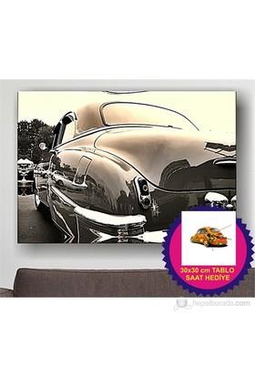 Arte Klasik Ootomobil Kanvas Tablo