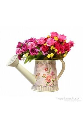 Decotown Kuş Gül Çiçek Sulama Kabı Ve Saksı