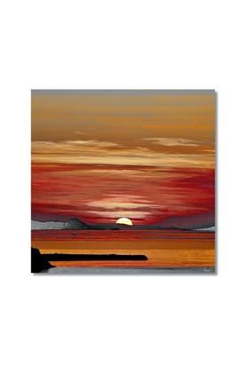Tictac Günbatımı Kanvas Tablo - 50X50 Cm