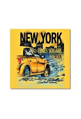 Tictac New York Taksi Kanvas Tablo - 50X50 Cm