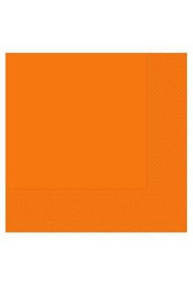 Pandoli 20 Adet Turuncu Renk Kağıt Parti Peçetesi 33 Cm