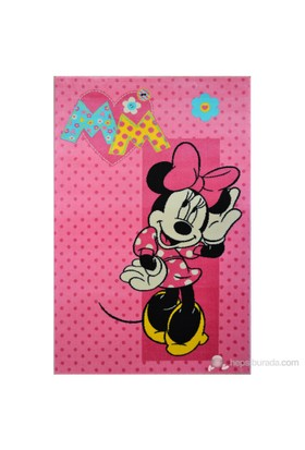 Poypoy Disney Minnie Açık Pembe Anti Alerjik Çocuk Halısı 120X180cm