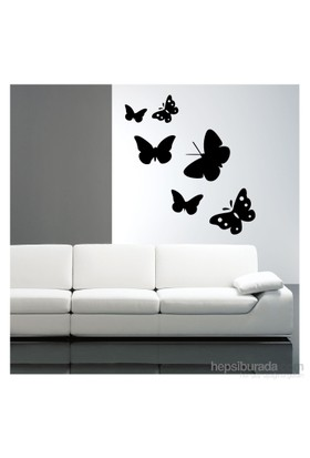 Kelebek Kadife Duvar Sticker 6 Adet