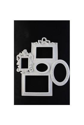 Hobi Polyester 5 Li Ayna-Resim Çerçeve Duvar Süsü