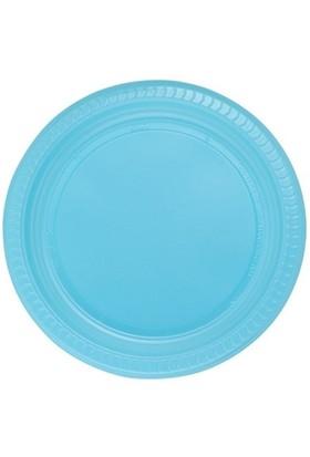 Pandoli Bebek Mavisi Renk 22 Cm Plastik Parti Tabağı 25 Adet