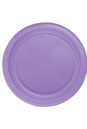 Pandoli Mor Renk 22 Cm Plastik Parti Tabağı 25 Adet