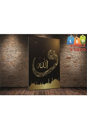 Tablo İstanbul Vav Hat İstanbul Led Işıklı Canvas Tablo