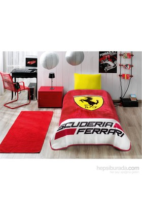 Taç Kristal Tek Kişilik Battaniye - Ferrari