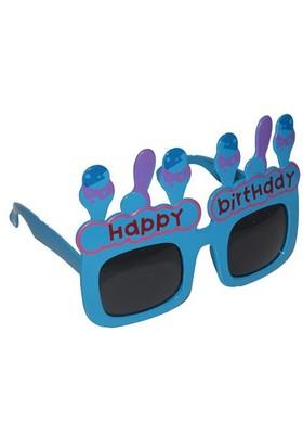 Pandoli Happy Birthday Eğlence Gözlüğü - Mavi