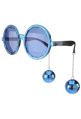 Pandoli Sallanan Disko Toplu Retro Partisi Gözlüğü - Mavi