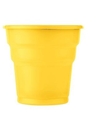 Pandoli Sarı Renk 25 Adet Plastik İçecek Parti Bardağı 180 Ml