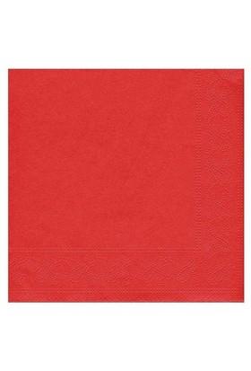 Pandoli Kırmızı Renk 50 Adet Kağıt Parti Peçetesi 33 Cm