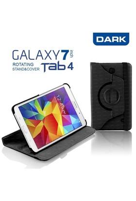 """Dark Samsung Galaxy Tab4 7"""" T230 360° Hareketli Siyah Kılıf Stand (DK-AC-SMKRT704T4)"""