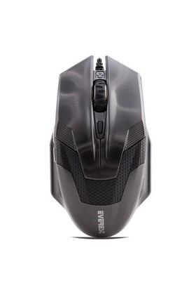 Everest SM-612 Gri Kablolu Oyuncu Mouse