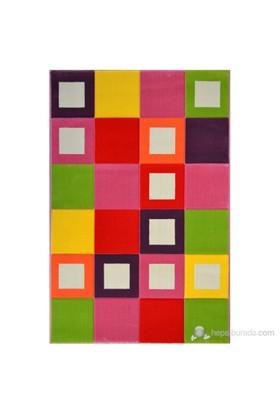 Poypoy Renkli Kutular Anti Alerjik Çocuk Halısı 120X180cm