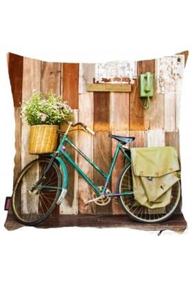 Bengü Accessories Bisiklet Desenli Dekoratif Yastık