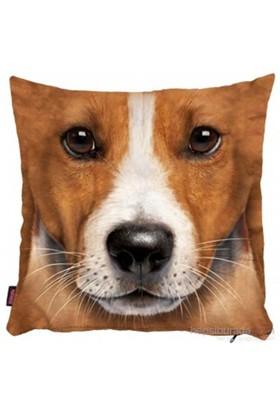 Bengü Accessories Üç Boyutlu Köpek Desenli Dekoratif Yastık 6