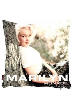 Bengü Accessories Marilyn Monroe Desenli Dekoratif Yastık 7