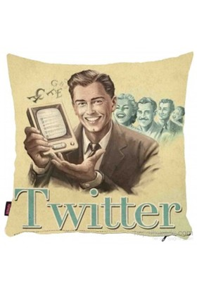 Bengü Accessories Twitter Sosyal Medya Konseptli Dekoratif Yastık