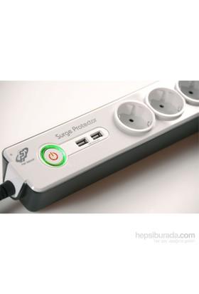 FSP USB'li 6'lı Akım Korumalı Priz
