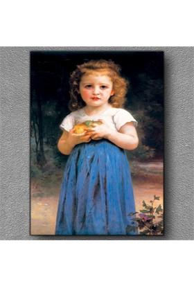 Tablom Meyve Taşıyan Kız Kanvas Tablo