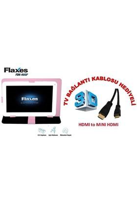 """Flaxes FDK-900P Universal 9"""" Pembe Tablet Kılıfı + TV Bağlantı Kablosu Hediyeli"""