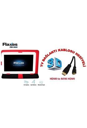"""Flaxes FDK-900K Universal 9"""" Kırmızı Tablet Kılıfı + TV Bağlantı Kablosu Hediyeli"""