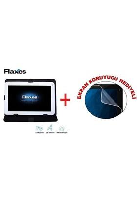 """Flaxes FDK-101S Universal 10,1"""" Siyah Tablet Kılıfı + Ekran Koruyucu Hediyeli"""
