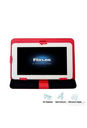 """Flaxes FDK-101K Universal 10,1"""" Kırmızı Tablet Kılıfı + Ekran Koruyucu Hediyeli"""
