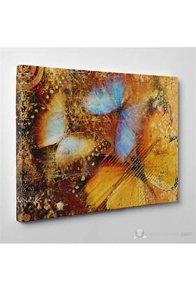 Tabloshop - Abstract Butterflies Canvas Tablo - 75X50cm