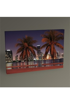 Tablo 360 Miami Skyline Tablo 45X30