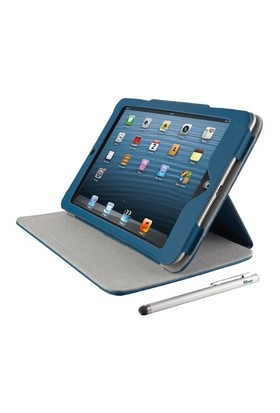 Trust 18883 iPad Mini Folio Stand Kalem Hediyeli Mavi Tablet Kılıfı