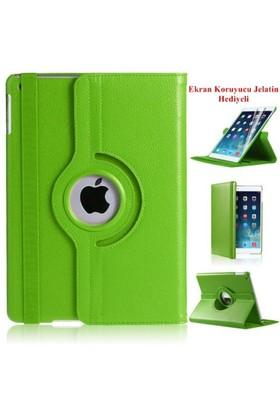 Romeca iPad Air 2 360 Derece Dönebilen Yeşil Tablet Kılıfı + Ekran Koruma Filmi Hediyeli