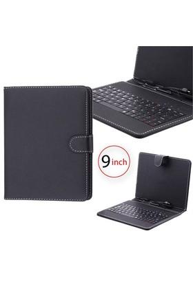 Ally Universal Klavyeli Tablet Kılıf 9 İnç Siyah