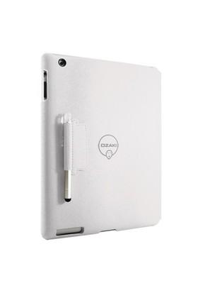 Ozaki iCoat Notebook+ Kalemli Beyaz New iPad Kılıf ve Standı