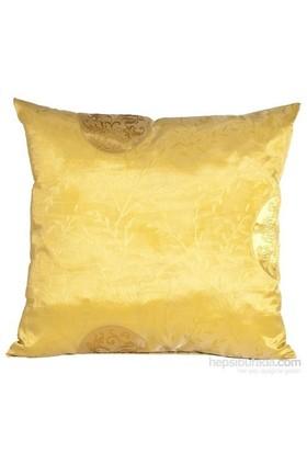 Yastıkminder Tafta Sarı Madalyon Desenli Yastık