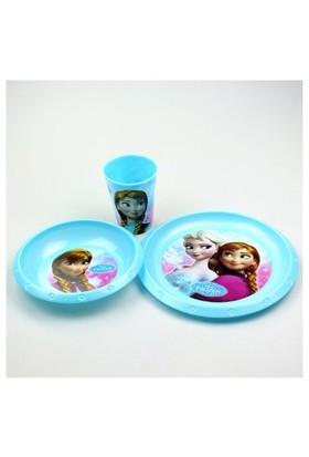 Frozen Plastik 3'Lü Set (Kase,Tabak,Bardak)