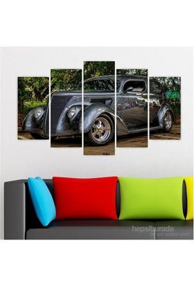 Dekoriza Klasik Araba 5 Parçalı Kanvas Tablo 110X60cm