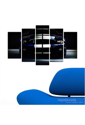 Dekoriza Ford Shelby Spor Araba 5 Parçalı Kanvas Tablo 110X60cm