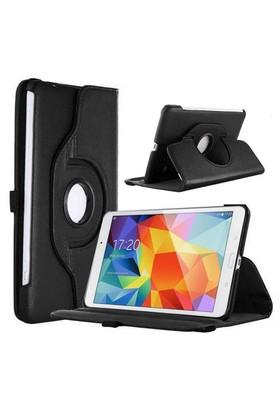 "Case 4U Samsung Galaxy Tab4 T330 8"" 360° Dönebilen Siyah Standlı Tablet Kılıfı"