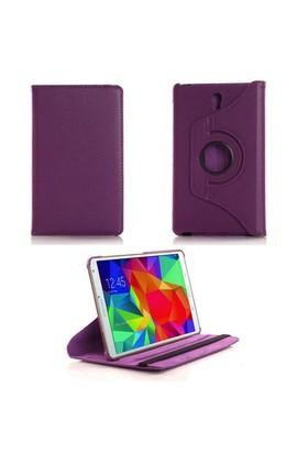 """Case 4U Samsung Galaxy Tab S T700 8.4"""" 360° Dönebilen Mor Standlı Tablet Kılıfı"""