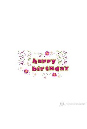 Eurographics Happy Birthday 25X35 Cm Duvar Sticker