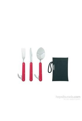 Ferrino Clıp Katlanır Çelik-Alüminyum Set (catal,kaşık,bıçak)